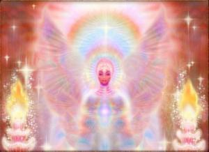 star being-wings-rainbow