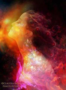 goddess-divine mother colours art by phatpuppyart